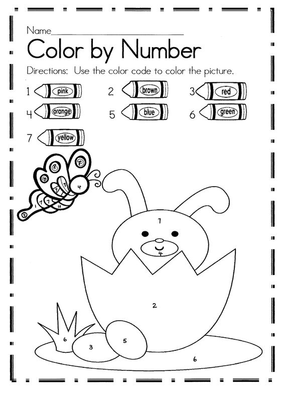 Easter Color By Number Activities | Coloring, Colors and Student