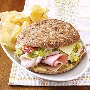 Lighter Deli Sandwiches Recipe | MyRecipes.com