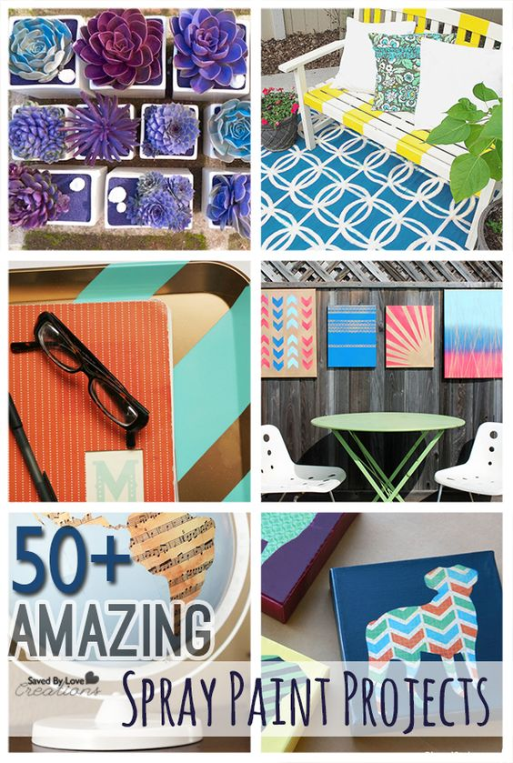over 50 amazing diy spray paint projects to make. Black Bedroom Furniture Sets. Home Design Ideas