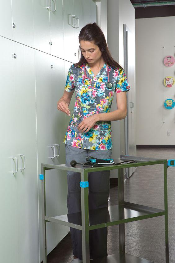 Gen Flex Prints - Plaid A Lovely Time #nurse #medical #dickies #uniforms