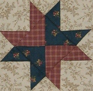 ' Right Hand of Friendship ' quilt block       ||    Barbara Brackman  Civil War Quilt