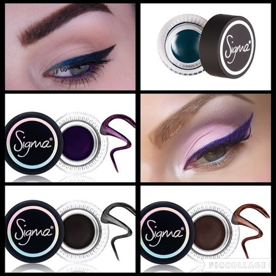 Gel Liner Set Includes 4 gel liners by Sigma (see pic 3 for names) since I mark my items as low as I'll go, I cannot sell these individually. All 4 brand new in box! They sell for $14 retail each. Makeup