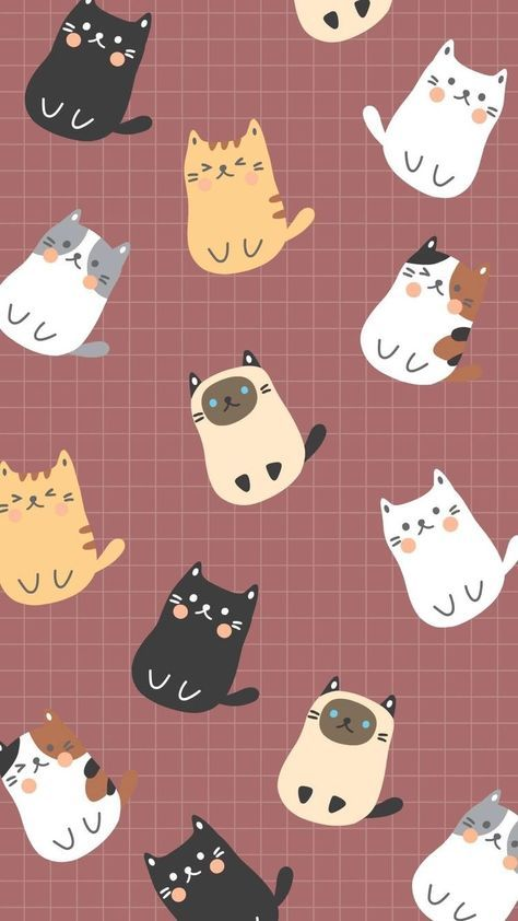 Pin On Stuff Cute cat cartoon wallpaper