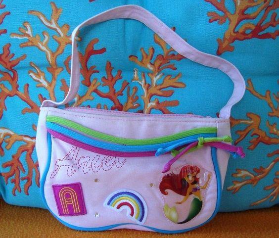 Disney's The Little Mermaid Pink Cloth Ariel Mini Purse ~Disney Princesses ~EUC!