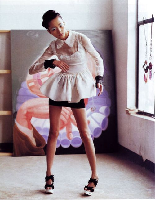 Emma Pei photographed by Nick Haymes for Vogue China, June 2008