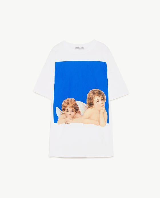 Image 8 Of Angel Print T Shirt From Zara