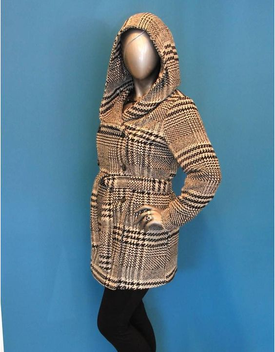 Check Coat - Lucy Clothing