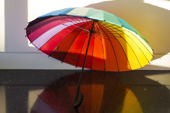 Beat the winter blahs with this vibrant color wheel umbrella from MoMA.: Vibrant Colors, Color Wheels, Umbrella Moma