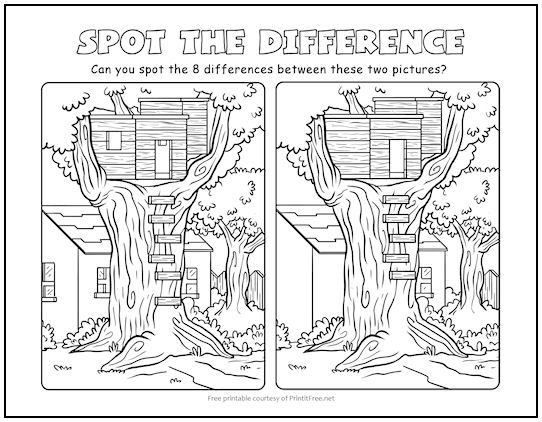Pin On Free Printable Spot The Difference Puzzles