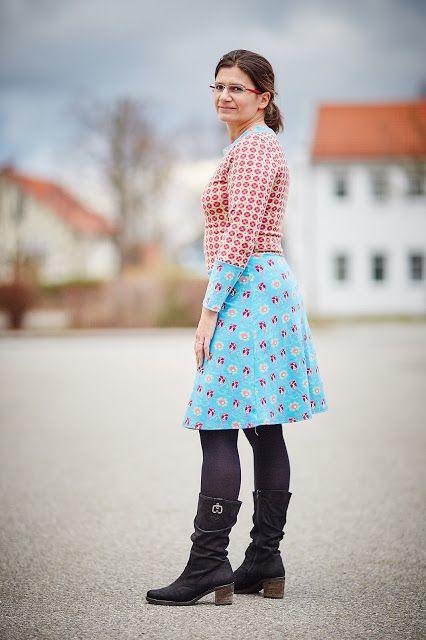 #Ladyskater, #Kitschycoo, Kleid, Nähen, Dress, Sewing, farbig, colourful
