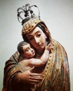 Nuestra Señora de Bélen A wooden Mexican baroque sculpture of Our Lady of…