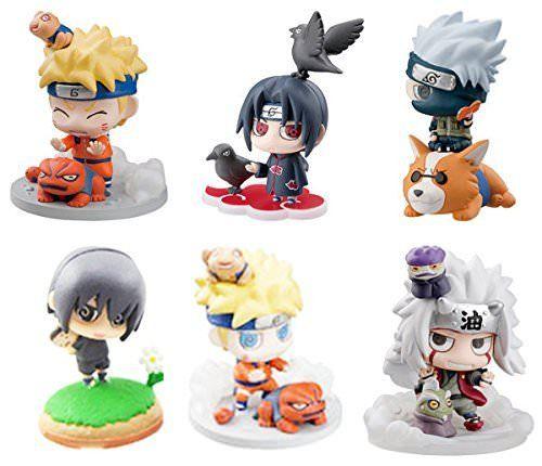 Oiva Set Of 6 Pieces Naruto Shippuden Mini Figure Collectible