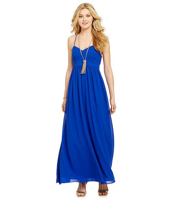 Belle Badgley Mischka X-Back Maxi Dress