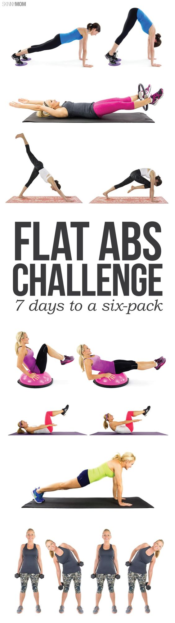 Do you want flatter abs? Try our FLAT ABS MINI CHALLENGE!
