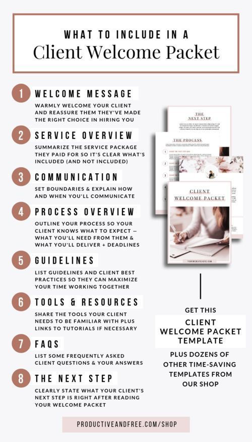 Client Welcome Packet Template Productive And Free Welcome Packet Business Management Service Based Business Welcome packet template free