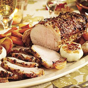 Rosemary-Garlic Pork With Roasted Vegetables & Caramelized Apples ...