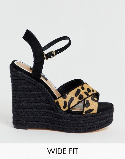 River Island Wide Fit wedge sandals