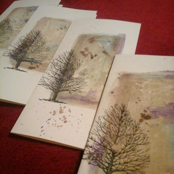 water color sympathy cards by Mary Gunn FUNN:
