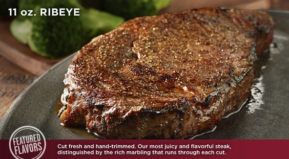 LongHorn's Mouthwatering 11 oz. Ribeye is full of flavor!