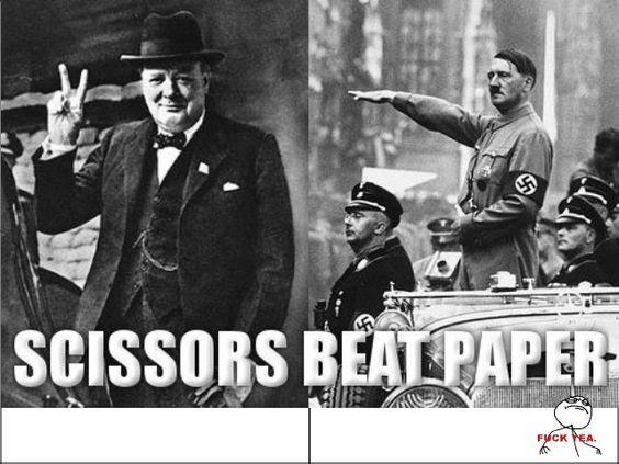 Rock Paper Scissors, War style.   Rock Paper Scissors Party ...
