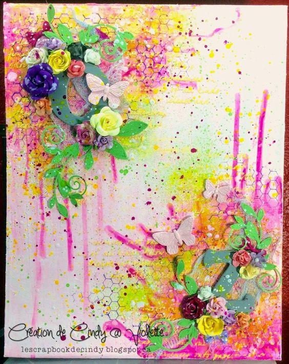 Canevas pour le Color challenge d'août de Lindy's Stamp Gang