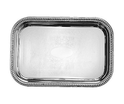Relatively Melamine Plastic Serving Tray with Handles 22 x 15 Geranium  TG81