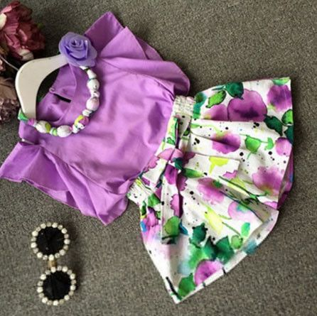New Fashion Kids Set Two Piece Casual Cute High Quality