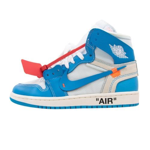 Nike Air Jordan 1 X Off White G Unc Powder Blue High Top Sneakers 10 5
