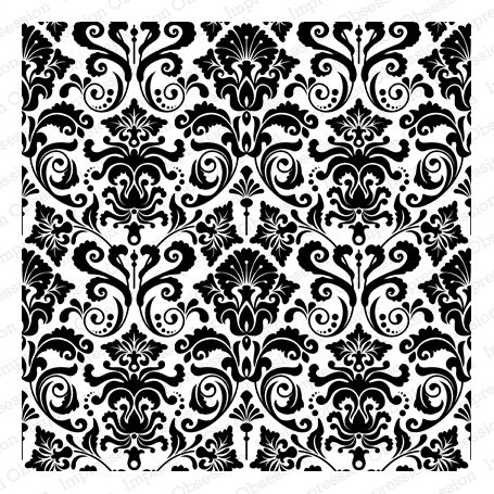 Impression Obsession Rubber Stamps Cover-a-Card Damask: