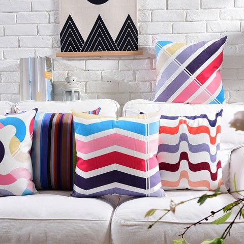 Https Www Throwpillowshome Com Colored Geometric Contemporary