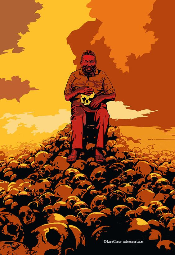 @Ivan Canu salzmanart.com Pol Pot #lastoriadelcomunismoin50ritratti #paolomieli #centaurialibri #hystory #communism #portraits #celebrities #freedom #politics #murderer #genocide #cambogia #vietnam #holocaust #madness #khmer #redkhmer #tribute #mikemignola #hellboy