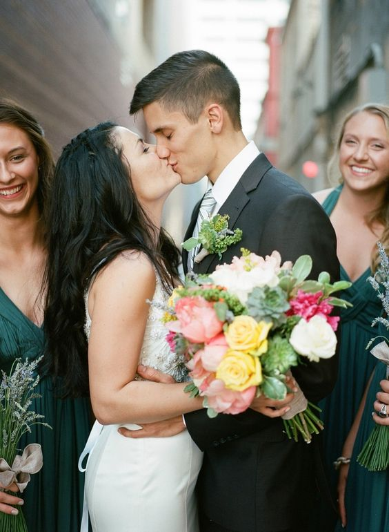 Stunning high school sweethearts: http://www.stylemepretty.com/2014/12/08/rustic-downtown-knoxville-wedding/ | Photography: Kristin Sweeting - www.kristinsweeting.com