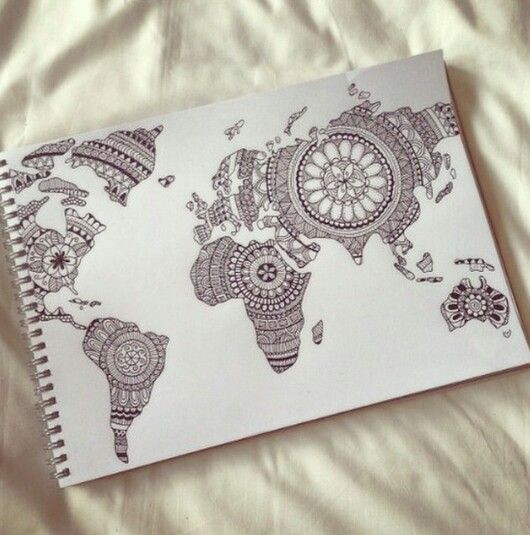 Mandala world map all over the world pinterest mandala mandala world map all over the world pinterest mandala hennas and tattoo gumiabroncs Image collections