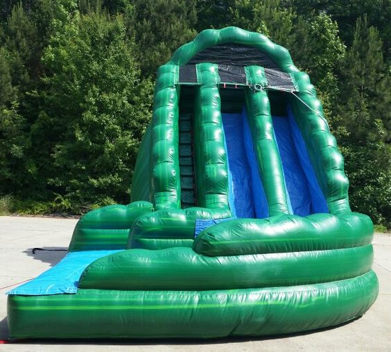 Inflatable Water Slide Rental San Jose: 18ft Kiwi Crush Dual Lane Inflatable Water Slide Rentals