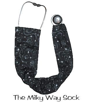 Stethoscope Covers The Milky Way StethoSocks