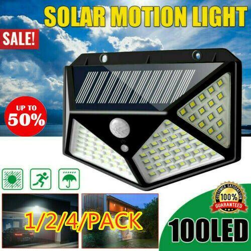 100 Led Solar Power Pir Motion Sensor Wall Lights Outdoor Garden Lamp Waterproof Solar Lamp Solarlamp Solar Motion Lights Solar Lamp Solar Powered Lights
