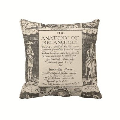 For the Psychiatrist's Couch.  Melancholy Pillow.