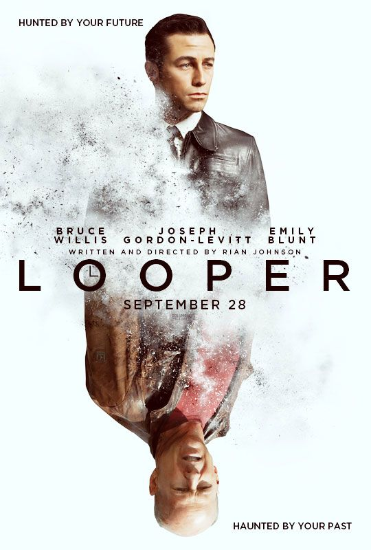 Looper by Rian Johnson, really nice cool movie poster