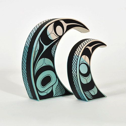 Pacific ocean waves native american sculpture modern for Native american interior design