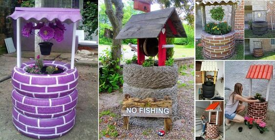 DIY Recycled Tires Wishing Well  See more at: http://www.goodshomedesign.com/diy-recycled-tires-wishing-well/: