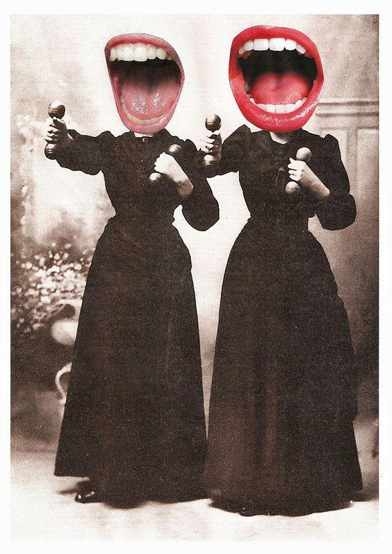 Haha! Big mouth attak —  http://lespapierscolles.wordpress.com/2013/04/07/lynn-skordal7