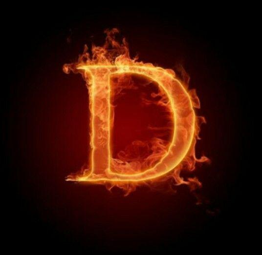 Tipografia Letra D En Llamas Alfabeto Com Fotos Fogo Desenho Imagem Para Celular