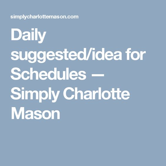 daily schedules masons and charlotte