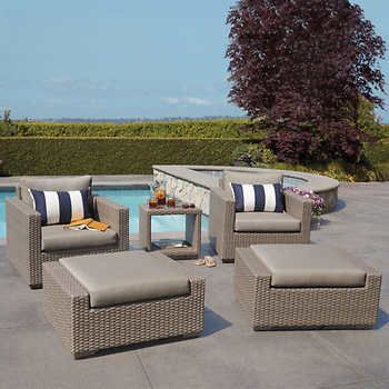 San Rafael 5 Piece Chair And Ottoman Set Patio Seating Sets Patio Seating Outdoor Furniture Sets
