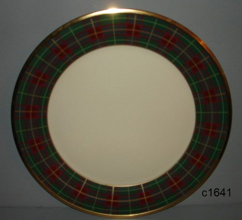 Lenox Holiday Tartan Charger Service Plate or Platter Never Used | eBay