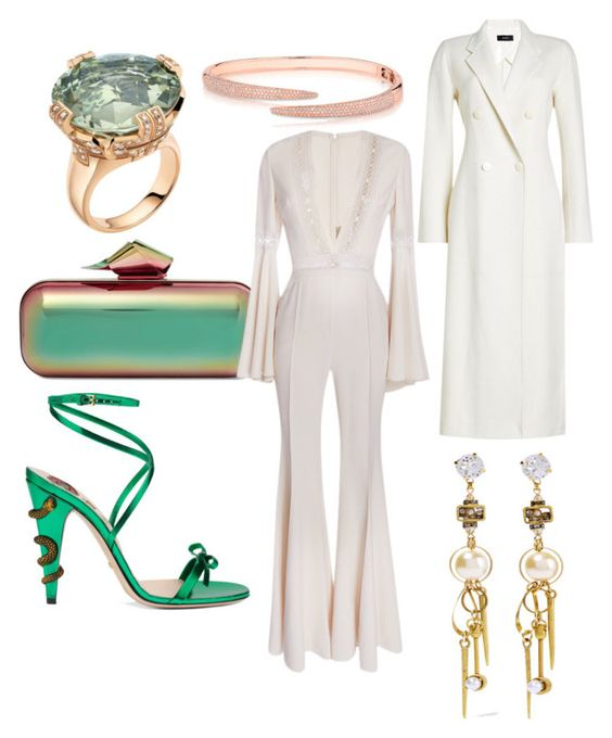 """CLEAN"" by trisacluhasu on Polyvore featuring Jimmy Choo, Gucci, Bulgari, Elie Saab, Anne Sisteron, Erickson Beamon and Joseph"