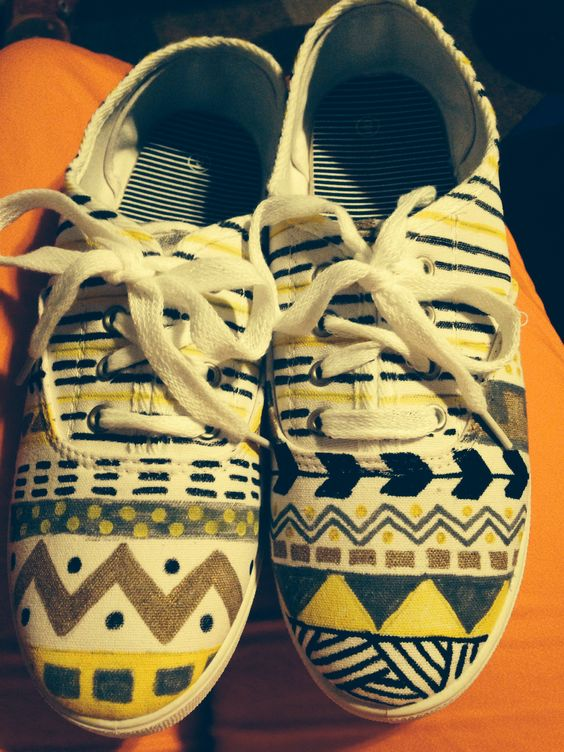 DIY Painted Keds. Wichita State colors!
