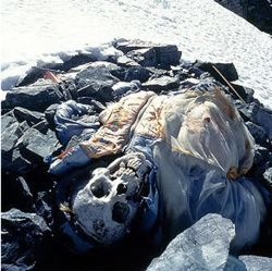 """Mt. Everest has around 200 dead bodies on the mountain. It is nearly impossible for recovery of a body off the mountain. The """"death zone"""" is 26,000 feet. The air there is so thin. Lack of oxygen leaves climber bewildered and weak and can cause them to pass out and get frostbite. Many people lose their lives here. The bodies are left the same as how they died and have even become landmarks for other travelers."""