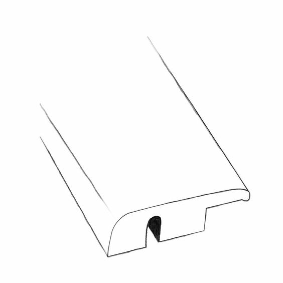 """0.48"""" x 1.5"""" x 96"""" Prairie Gold End Molding in Smooth"""