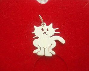 Pingente De Gato Em Prata - Peça o seu pelo Whats (21) 97266-8643  - #pingentedegato #pingentedegatinho #gatinho #gato